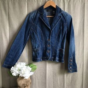 DKNY Jeans Jacket Blazer Fitted Button S